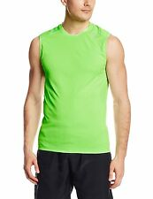 Asics Men's Favorite Sleeveless Fitness Top Shirt Green Gecko UPF 50+ Large