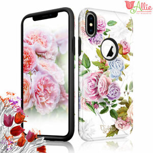 For Apple iPhone Xs Max 8 Plus 7 [ROSE] Stick Stand Case Cover For Girls Women