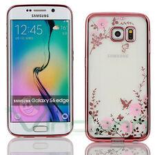 Custodia Luxury Diamond per Samsung Galaxy S6 Edge G925F case fiori brillantini