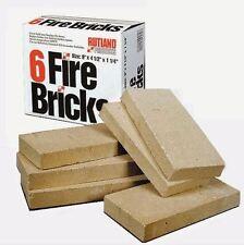 """Fire Brick (6 Bricks/Box) - 4.5"""" X 9"""" X 1.25"""