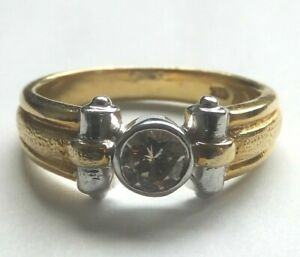Vintage 18ct Gold  Diamond Solitaire Ring