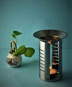 Stainless Steel Oil Burner Incense Essence Aroma Diffuser Aromatherapy