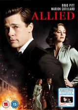 Allied DVD Digital Download 2017 Region 2 Europe Post Brad Pitt
