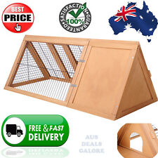 Wooden Pet Hutch Cage Rabbit Guinea Pig Chicken Chook Triangle  House Run