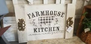 "NOODLE BOARD,  ""Farm House Kitchen""  Serving Tray,  Wall hanger Picture"