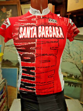 LOUIS GARNEAU CYCLING  JERSEY WOMEN'S XS RED 3/4 ZIP SANTA BARBARA TEAM FASTRACK