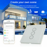 WIFI TouchSchalter Smart  Alexa Rolladenschalter Vorhang Schalter Wandschalter