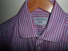 "STUNNING* CHARLES TYRWHITT Jermyn St Mens Shirt Double Cuff SIZE LARGE 16"""