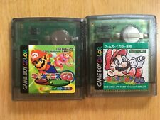 FREE SHIPPING  Game Boy COLOR  Japan MARIO GOLF & TENNIS