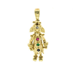 Pre owned 9ct Clown Charm/Pendant