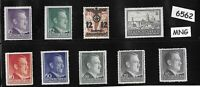 Small Mint stamp group General Government Poland German occupation Hitler WWII