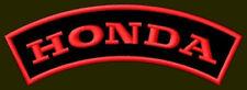 "HONDA EMBROIDERED PATCH ~4-1/2"" x 1-1/8"" MOTORCYCLE BORDADO PARCHE AUFNÄHER BIKE"