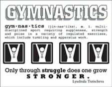 GYMNASTICS Sticker Card Making Scrapbook Tumbling Clear Backed Stickers