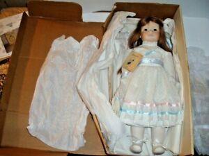 "Dolls By Jerri CLARA #01 Full Body 21"" Porcelain Artist Doll- Box and COA"