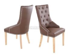 Chaises marrons en chrome pour la maison