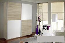Camera armadio 2 ante scorrevoli bianco-legno chiaro 136 x 197