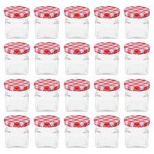 20 Jars avec Bouchon à Vis 50 ML Jam Jar Chute de Verre Pot Conservation en