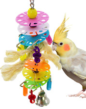 1103 PLASTIC DISC CHARM SPIN BIRD TOY parrot cage toys cages cockatiel parrotlet