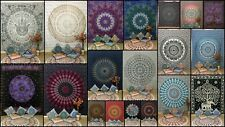 Cotton Queen Size Tapestry Collage Wall Hanging Mandala Indian Ethnic Fabric Art