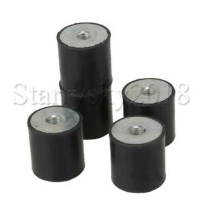 5pcs M8 Anti Vibration Rubber Mounts Shock Damper Isolators Bobbins 30x30mm