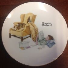 """Collectors Edition Norman Rockwell The Student 6.5"""" Collectible Plate"""