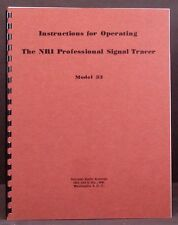 NRI Model 33 Professional Signal Tracer Manual