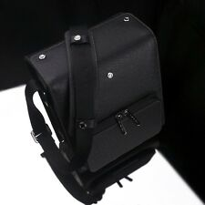 GARIZ Black Label Leather Camera Bag Black BL-ZBMBK Medium Size