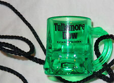 Tullamore Dew Irish Whiskey Miniature Mug on a String Shot Glass...Green Plastic