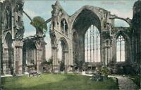MELROSE Melrose Abbey Postcard nr Galashiels ROXBURGHSHIRE Valentine's Co