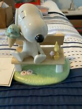 Happiness is Ice Cream with Snoopy and Woodstock Lenox Sku 858430 with Coa