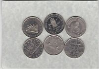 SIX CANADA DOLLARS & SOUVENIR DOLLARS 1968 TO 1985 IN EXTREMELY FINE CONDITION