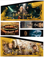 KIT COMPLETO DECALS CABINET FLIPPER PINBALL LORD of the Rings Custom STERN