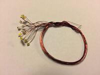 SMD LED 1,9mm rund Point-LED kaltweiss - 10 Stück am Draht für Modellbau