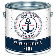 Metallschutzlack 3 in 1 SEIDENMATT Schiefergrau RAL 7015 Grau Rostschutzfarbe