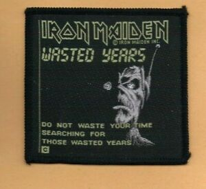 Iron Maiden Wasted Years vintage 1980s SEW ON PATCH