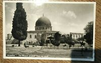 Postcard  Jordan  'Jerusalem - The Mosque of Omar from the South'  (signed 1940)