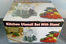 Special Kitchen Utensil Set With Stand Includes Bottle Opener Pizza Cutter Ice