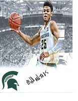 Malik Hall Michigan State Spartans hand autographed signed 8x10 photo edit MSU d