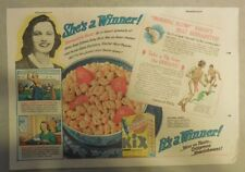 Kix Cereal Ad: Betty Crocker Recipe from 1930's-1940's 7 x 10 inches