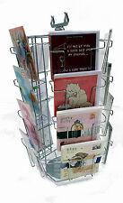 C5 Rotating Silver Greeting Card Shop Counter Stand (20 pocket) (K5)