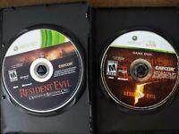 USED - Resident Evil 5, Resident Evil Operation Raccoon City XBox 360 Bundle