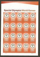 Special Olympics World Games (forever) 2015 Issue - MNH Sheet of 20