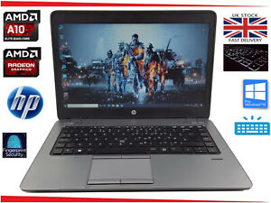 "14"" HP EliteBook 745 Gaming Laptop AMD A10 Pro Quad 8GB 500GB R6 Win10 Business"