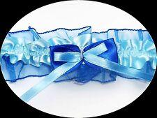 liga azul azul oscuro Talla Lazo Satén Con Decoración Novia EU hecho a mano