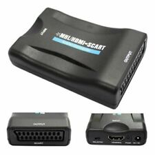 SCART to 1080P HDMI o Converter Scaler Box w/USB Cable HDTV HD WX