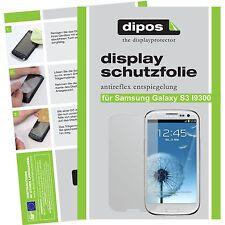 8x dipos Samsung Galaxy S3 i9300  Schutzfolie matt Displayschutzfolie Antireflex