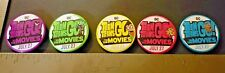 Teen Titans Go To The Movies Pins Bottons (5 pack) Theater Promotional SWAG