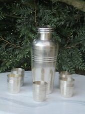 Ancien shaker service art deco Saint Medard métal argenté 1920 /30