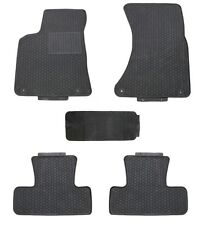 Floor Mats for 2009-2017 Audi Q5 Custom Fit Shape Black Rubber All Weather