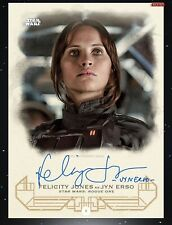 Topps Star Wars Card Trader Galactic Heritage Signature JYN ERSO/FELICITY 675cc